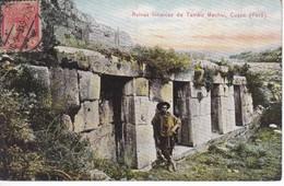 POSTAL DE CUZCO DE LAS RUINAS INCAICAS DE TAMBO MACHAI DEL AÑO 1915 (PERU) (E.POLACH SCHNEIDER) - Perú