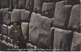 POSTAL DE CUZCO DE LAS MURALLAS INCAICAS CASA DEL SOR TOMAS GONZALEZ DEL AÑO 1916 (PERU) (E.POLACH SCHNEIDER) - Perú