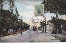 POSTAL DE MIRAFLORES DE LA BAJADA A LOS BAÑOS DEL AÑO 1918 (PERU) (E.POLACH SCHNEIDER) - Perú