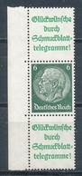 Deutsches Reich Zusammendruck S 208.1 ** Mi. 48,- - Se-Tenant