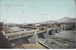 POSTAL DE LIMA DEL PUENTE DE PIEDRA DEL AÑO 1913 (PERU) (E.POLACH SCHNEIDER) - Perú
