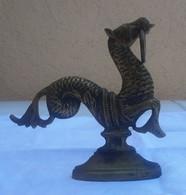 HIPPOCAMPE De VENISE - Seahorse From Venitia - Cheval De Mer  / Métal Dans Son Jus (bronze Laiton ??) 13,5 Cm X 13,5 Cm - Bronzes