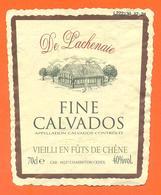 étiquette De Fine Calvados De Lachenaie à Charenton - 70 Cl - 40 °/° - Etichette