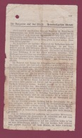270918 MILITARIA GUERRE 1914 18 - Tract Allemand Envoyé Par Ballon DIE BULGAREN AUF DER .. DEMORALIZATION UBERALL - 1914-18