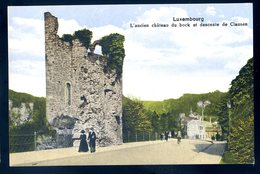 Cpa Du Luxembourg Ancien Château Du Bock Et Descente De Clausen    SEPT18-14 - Luxembourg - Ville