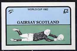 Gairsay 1982 Football World Cup Imperf Deluxe Sheet ( �2 Value) U/m SPORT - Local Issues