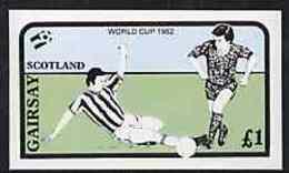 Gairsay 1982 Football World Cup Imperf Souvenir Sheet ( �1 Value) U/m SPORT - Local Issues