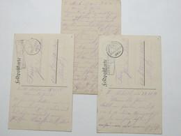 1915 , Mihiel  , 3  Lettre Et Carte  Militaire Allemagne - Alsace-Lorraine