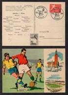 FOOTBALL - SOCCER - COUPE DU MONDE/ 1958 SUEDE CARTE ILLUSTREE - MEXICO Vs WALES (ref LE2505) - 1958 – Schweden