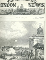 THE ILLUSTRATED LONDON NEWS N.1976 MAY 26, 1877. ENGRAVINGS RUSSIAN TURKISH WAR TURKEY ROMANIA COSSACKS AT BRAILA - Magazines & Newspapers
