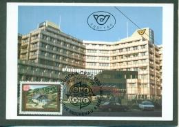 CM-Carte Maximum Card # 1990-Autriche-Austria #Europa  CEPT # Architecture # Bureau De Poste,Postamt,Post Office  (1)) - Europa-CEPT