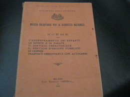 LIBRETTO  MILIZIA VOLONTARIA PER LA SICUREZZA NAZIONALE -1923 - Documentos Históricos