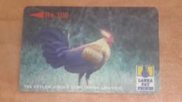 Sri Lanka-(21srld)-jungle Fowl Rooster-(rs.100)- Used Card+1card Prepiad Free - Sri Lanka (Ceylon)