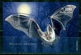 SVIZZERA / HELVETIA 2012** - Pipistrello Orecchione Comune - Block  MNH ,come Da Scansione. - Pipistrelli