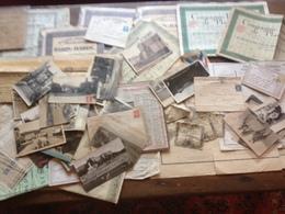 Lot De Vieux Papiers - Actions - Cartes Postales - Lettres Philatélie - Aurtre.... - Non Classés