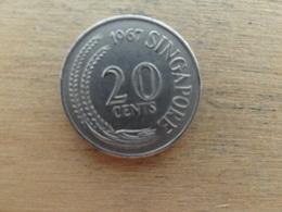 Singapour  20  Cents  1967  Km 4 - Singapour