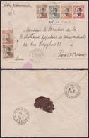 Indochine 1925 - Entier Postal De Phan Tiêt Vers Paris (5G22578) DC0026 - Covers & Documents