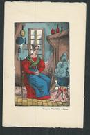 Imagerie Pellerin D' Epinal Sur Velin Des Papeteries D'Arches:carte Double 16cm X 10.5cm:Cendrillon - Other