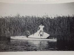 Photo D'un Pédalosur L'Allier En Août 1942. - Barche
