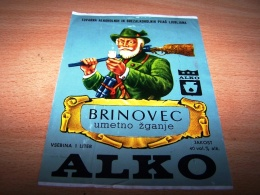 Etiquette Vin Wine Label Theme Chasse Chasseur Hunter Alko Brinovec - Jacht