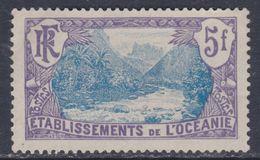 Océanie  N° 37 X  Vallée De Fataoua 5 F. Violet Et Bleu  Trace De Charnière Sinon TB - Oceania (1892-1958)