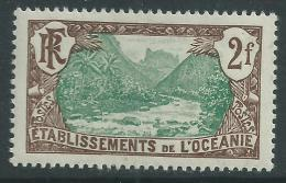 Océanie  N° 36 X  Vallée De Fataoua 2 F. Sépia Et Vert Trace De Charnière Sinon TB - Oceania (1892-1958)