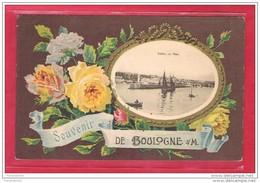 62-Boulogne Sur Mer-Souvenir De Boulogne Sur Mer-cpa écrite Au Top Couleur - Boulogne Sur Mer