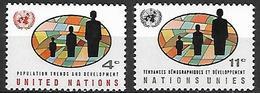 NATIONS - UNIES    -    1965 .  Y&T N° 145  &  147 * .   Démographie. - Ungebraucht