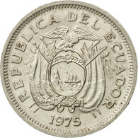 Monnaie, Équateur, 20 Centavos, 1975, TTB, Nickel Plated Steel, KM:77.2a - Ecuador