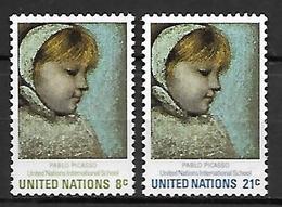NATIONS - UNIES    -    1971 .  Y&T N° 217 / 218 * .   Tableau De Picasso - New York -  VN Hauptquartier