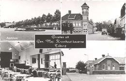 Tilburg, Groeten Uit Gen. Maj. Kromhoutkazerne  (glansfotokaart) - Tilburg