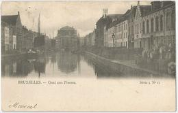 8Eb-402:  Bruxelles  QUAI AUX Pierres Série 3 N°11 > Tirlemont ...de Postzegel Is Al Weg... - Maritiem