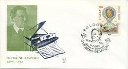 ITALIA - FDC ALA 1979 - OTTORINO RESPIGHI - MUSICA - 6. 1946-.. Repubblica