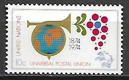 NATIONS - UNIES    -    1974 .  Y&T N° 239 * .  U. P. U.  /  Cor De Poste  /  Globe. - New York -  VN Hauptquartier