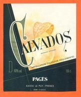 étiquette De Calvados Pagès à Le Puye - 100 Cl - 40 °/° - Other