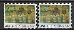 NATIONS - UNIES    -    1974 .  Y&T N° 240 / 241 * .   Fresque De Candido Portinari  /  Peintre Brésilien.. - New York -  VN Hauptquartier