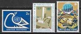 NATIONS - UNIES    -    1974 .  Y&T N° 242 / 244 * .   Série Complète. - New York -  VN Hauptquartier