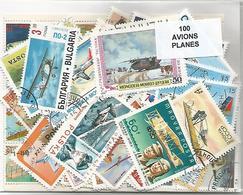 """Lot 100 Timbres Thematique """" Avions """" - Avions"""