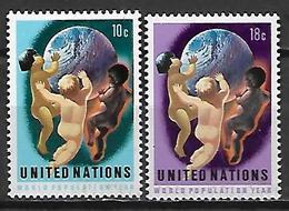 NATIONS - UNIES    -    1974 .  Y&T N° 245 / 246 * .   Les Enfants Du Monde - New York -  VN Hauptquartier