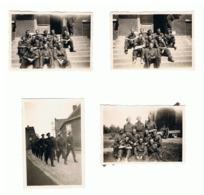 Lot De 4 Photos ( +/- 6 X 9 Cm) Armée Belge - Militaire, Caserne De SAIVE  En 1945 (b187) - Oorlog, Militair