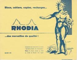 Buvard - RHODIA - Le Colosse De Rhodes - Papeterie