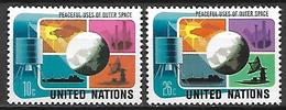 NATIONS - UNIES    -    1975 .  Y&T N° 249 / 250 * .   Satellite, Globe. - New York -  VN Hauptquartier