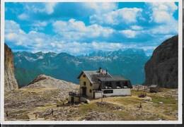 DOLOMITI - RIFUGIO ANTERMOIA - GRUPPO DEL CATINACCIO - FOTO GHEDINA - NUOVA - TIMBRO DEL RIFUGIO - Alpinisme