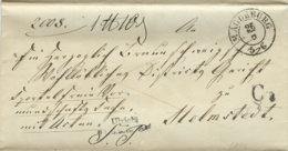 1842 MAGDEBURG Bf M. Preuß.Beamtenstempel N. Helmstedt - Deutschland