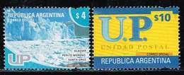 Argentinien 2005/2002, Michel# 3012 A, 2736 O Perito Moreno Glacier/ Unidad Postal - Argentinien