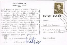 30006. Postal TEHRAN (Iran) Persia 1961. Persepolis De SHIRAZ - Irán
