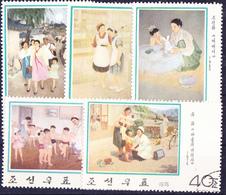 Korea (Nord North) - Gemälde (MiNr: 1473/7) 1976 - Gest Used Obl - Korea, North