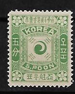 #323A# COREA YVERT 6 UNUSED (*) SEE SCANS. - Corea (...-1945)