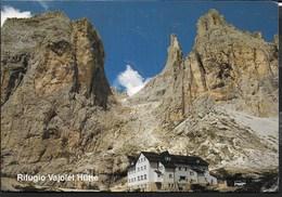 DOLOMITI - RIFUGIO VAJOLET - GRUPPO DEL CATINACCIO - FORMATO GRANDE 17X13  - NUOVA - TIMBRO DEL RIFUGIO - Alpinisme