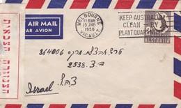 GUERRA DEL CANAL DE SUEZ, SUEZ CRISIS, YEAR 1956 AUSTRALIAN TROOPS IN SUEZ AIRMAIL TO ISRAEL AUTRES MARQUES -BLEUP - Militares